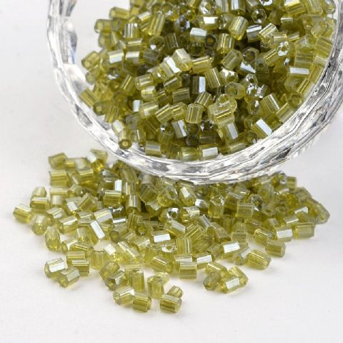 Seed Beads Two-Cut -  8/0 - Olive Pearl - 50g